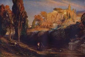 Emily and Valancourt at the Chateau Le Blanc: Lady Foix Hears from Dr Foix, Mysteries of Udulpho by Samuel Palmer
