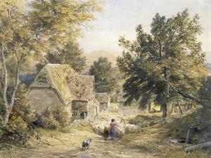 Farm Yard Near Princes Risborough, Buckinghamshire, England by Samuel Palmer