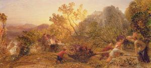 Harvest in the Vineyard, 1859 by Samuel Palmer