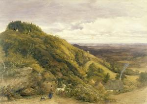 Landscape with a Woman Driving Sheep by Samuel Palmer