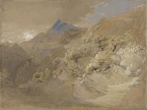 Mount Siabod from Tyn-Y-Coed Near Capel Curig (Pen and Ink, Bodycolour and W/C on Paper) by Samuel Palmer