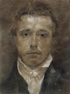 Self-Portrait, C.1824 (Black Chalk, Heightened with White, on Buff Paper) by Samuel Palmer