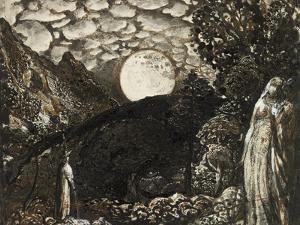 Shepherds under a Full Moon by Samuel Palmer