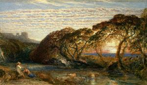 The Shadowy Stream by Samuel Palmer