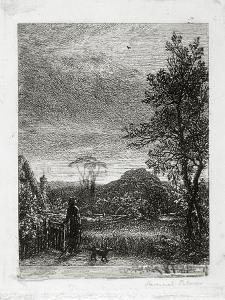 The Skylark (Etching) by Samuel Palmer