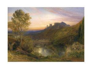 The Towered City (The Haunted Stream), C.1850-75 by Samuel Palmer
