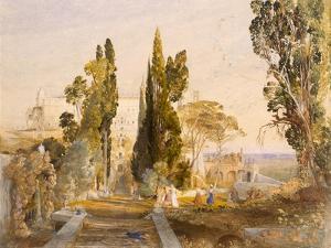 The Villa D'Este, Tivoli, 1837 by Samuel Palmer
