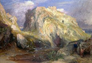 Tintagel Castle, Approaching Rain, 19th Century by Samuel Palmer