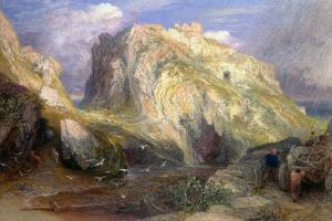 Tintagel Castle, Approaching Rain, 19th Century by Samuel Palmer