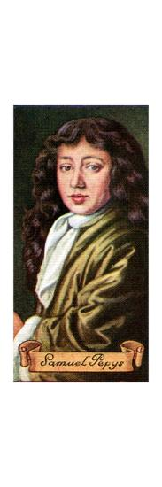 Samuel Pepys, taken from a series of cigarette cards, 1935. Artist: Unknown-Unknown-Giclee Print