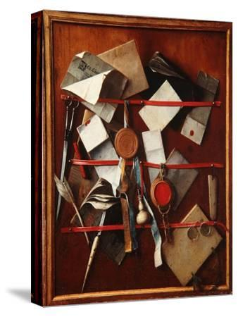 Feigned Letter Rack with Writing Implements, C.1655