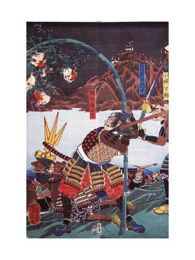 Samurai Displaying Severed Heads of their Enemies on Bamboo Canes--Giclee Print