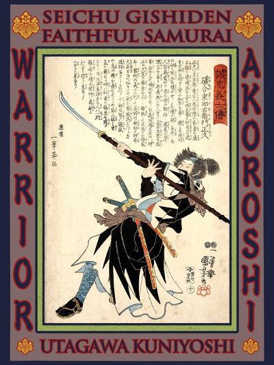 Samurai Isoai Juroemon Masahisa-Kuniyoshi Utagawa-Giclee Print