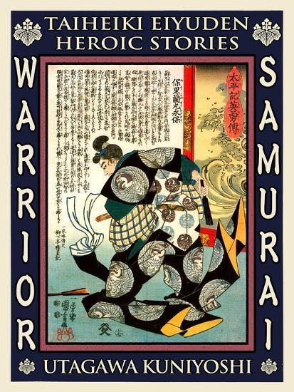 Samurai Mori Nagasada-Kuniyoshi Utagawa-Giclee Print