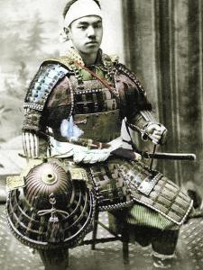 Samurai of Old Japan Armed with Full Body Armour, C.1880