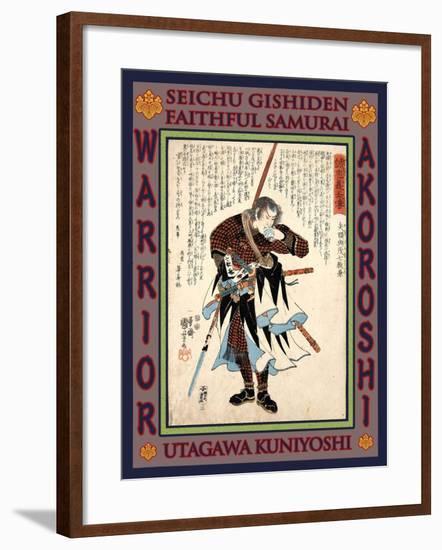 Samurai Yato Yomoshichi Norikane-Kuniyoshi Utagawa-Framed Giclee Print