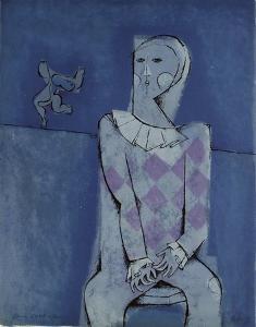 Les saltimbanques - l'Arlequin bleu by Samy Briss