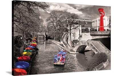San Antonio River Walk--Stretched Canvas Print
