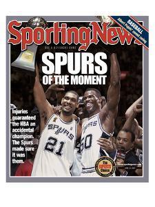 San Antonio Spurs Tim Duncan and David Robinson - 2003 NBA Champs - June 23, 2005