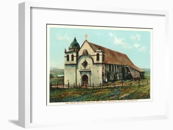 San Carlos Mission, Carmel, California--Framed Art Print