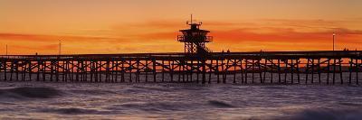 San Clemente Municipal Pier in Sunset-Design Pics Inc-Photographic Print