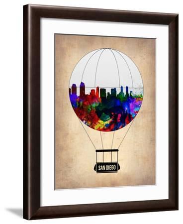 San Diego Air Balloon-NaxArt-Framed Art Print