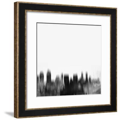 San Diego City Skyline - Black-NaxArt-Framed Art Print