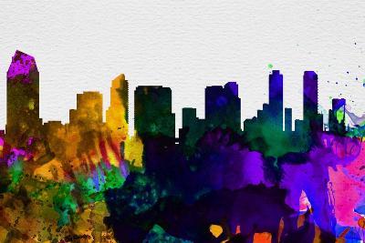San Diego City Skyline-NaxArt-Art Print