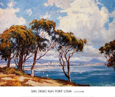 San Diego from Point Loma-John Comer-Art Print