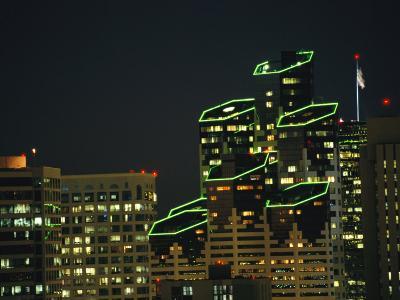 San Diego High Rises Brightly Lit at Night-Karen Kasmauski-Photographic Print