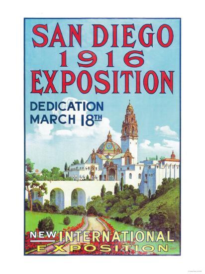 San Diego International Exposition Poster - San Diego, CA-Lantern Press-Art Print