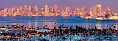 San Diego Skyline at Night and Marina-Andy Z-Art Print