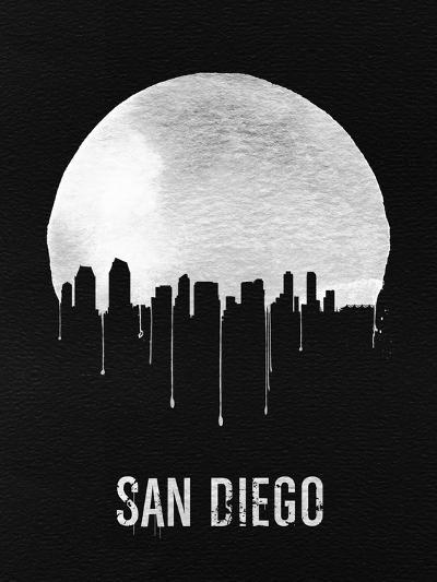 San Diego Skyline Black--Art Print