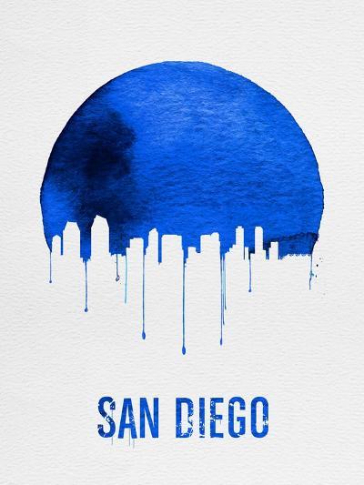 San Diego Skyline Blue--Art Print