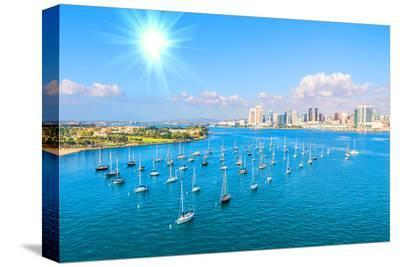 San Diego Skyline & Waterfront--Stretched Canvas Print