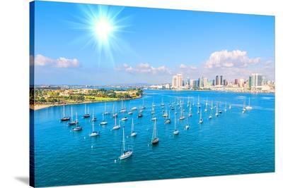 San Diego Skyline & Waterfront--Stretched Canvas Print