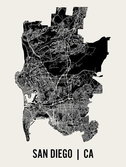 San Diego-Mr City Printing-Art Print