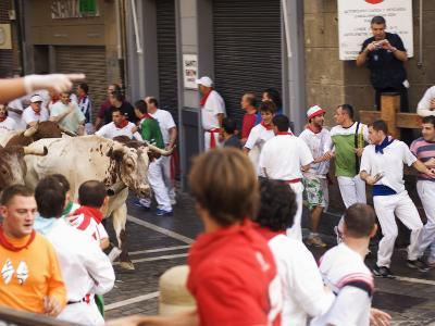 San Fermin, Running of the Bulls Festival, Pamplona, Navarra, Euskadi, Spain-Christian Kober-Photographic Print