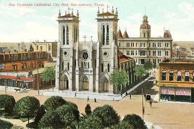 San Fernando Cathedral, San Antonio--Art Print