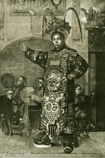 San Francisco a Chinese Actor in the Theatre 1891, USA--Giclee Print