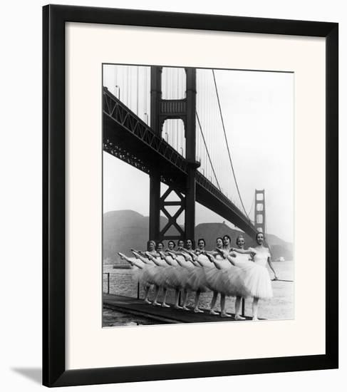 San Francisco Ballet Company and the Golden Gate, c.1960--Framed Giclee Print