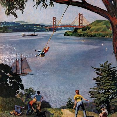 """San Francisco Bay Boys"", May 26, 1956-John Falter-Premium Giclee Print"