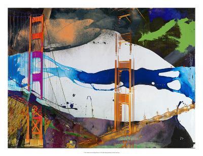 San Francisco Bridge Abstract I-Sisa Jasper-Giclee Print