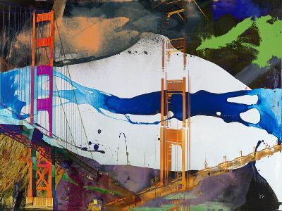 San Francisco Bridge Abstract I-Sisa Jasper-Art Print