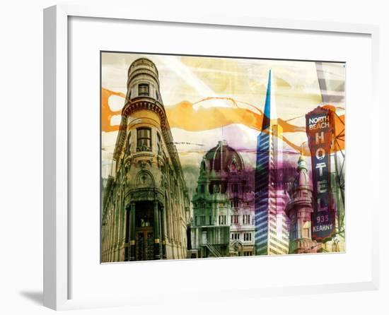 San Francisco Buildings II-Sisa Jasper-Framed Art Print