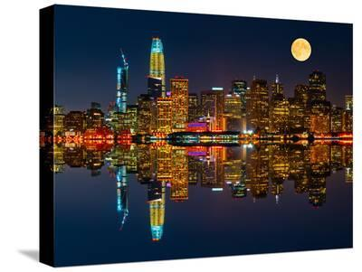 San Francisco by Night-Marco Carmassi-Stretched Canvas Print