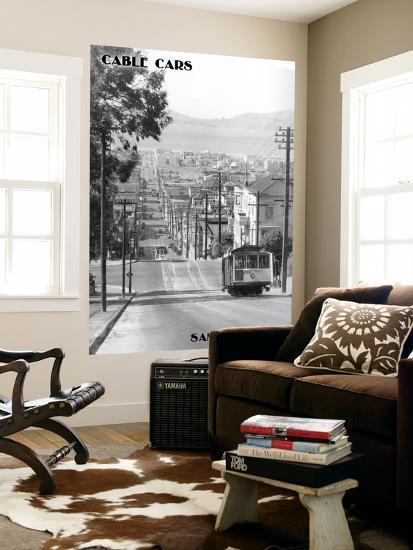 San Francisco, CA Cable Cars on Fillmore St. Hill Photograph - San Francisco, CA-Lantern Press-Wall Mural