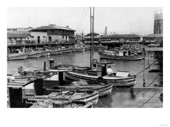 San Francisco, CA Fisherman's Wharf Scene Photograph - San Francisco, CA-Lantern Press-Art Print