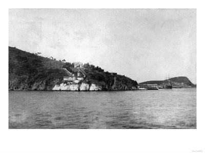 San Francisco, CA Yerba Buena Island and Lighthouse Photograph - San Francisco, CA-Lantern Press-Art Print