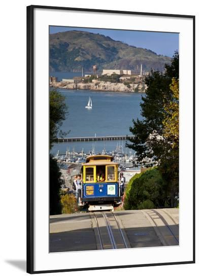 San Francisco cable car, California, USA-Brian Jannsen-Framed Photographic Print